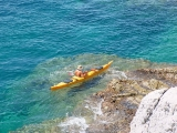 Sea kayaking Kolocep Island