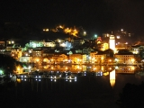 Skradin town by night