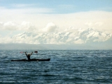 Kayaking on the lakeh