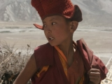 Monk-in-training at a camp